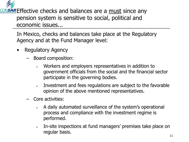 Effective checks and balances are a