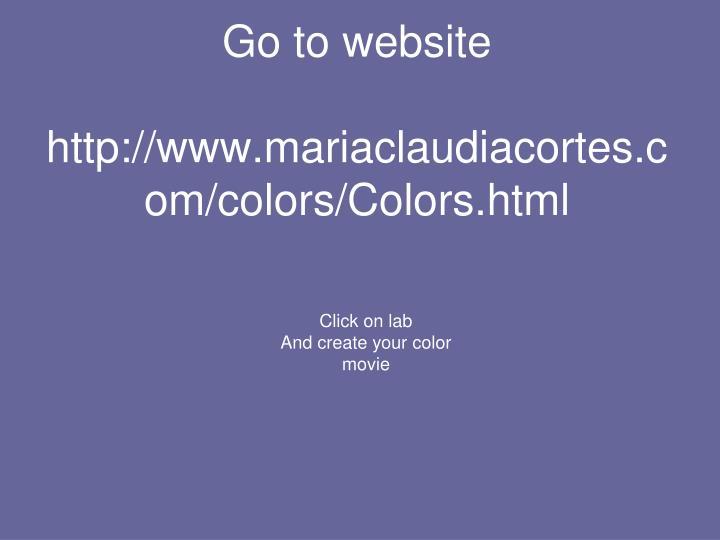 Go to website