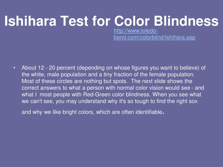 Ishihara Test for Color Blindness