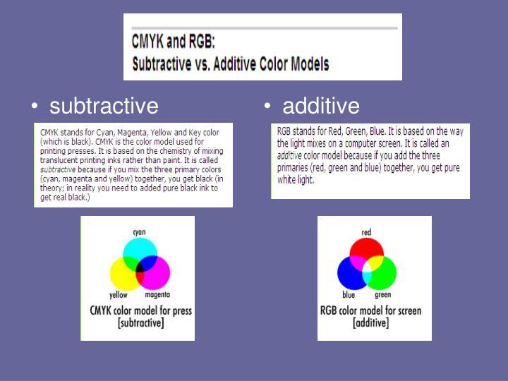 subtractive