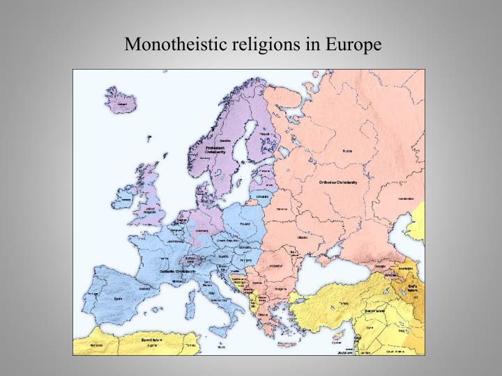 Monotheistic religions in Europe