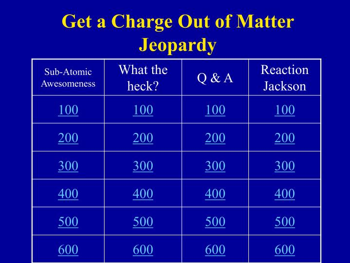 get a charge out of matter jeopardy n.