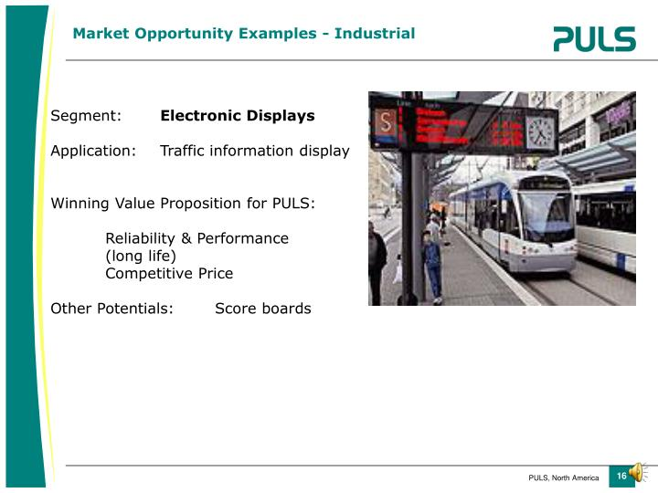 Market Opportunity Examples - Industrial