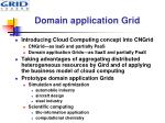 domain application grid