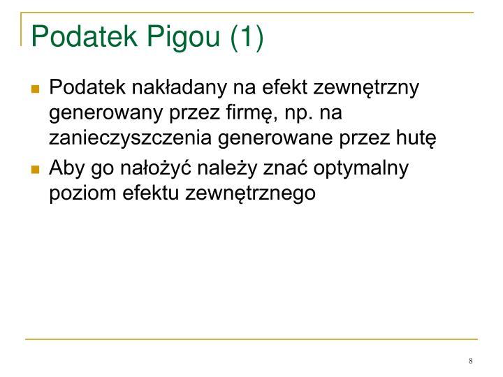 Podatek Pigou (1)