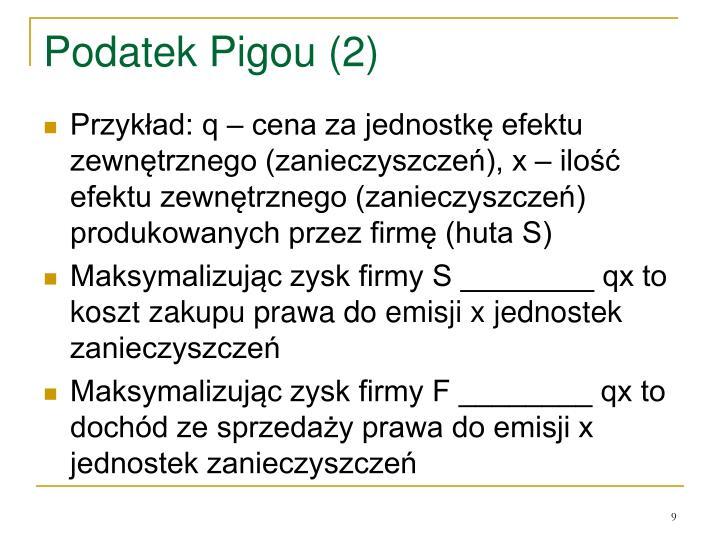 Podatek Pigou (2)