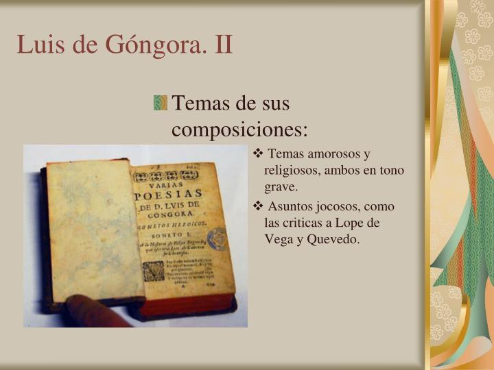Luis de Góngora. II