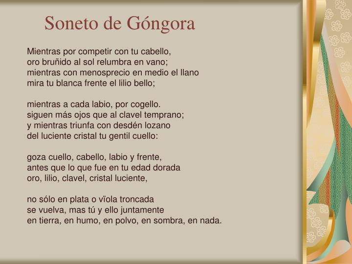 Soneto de Góngora