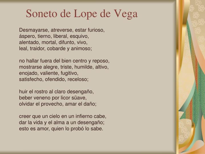 Soneto de Lope de Vega
