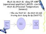 m ch o nhi t d ng op amp operational amplifier lm335 c m bi n nhi t precision temperature sensors