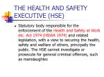 the health and safety executive hse