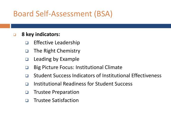 Board Self-Assessment (BSA)