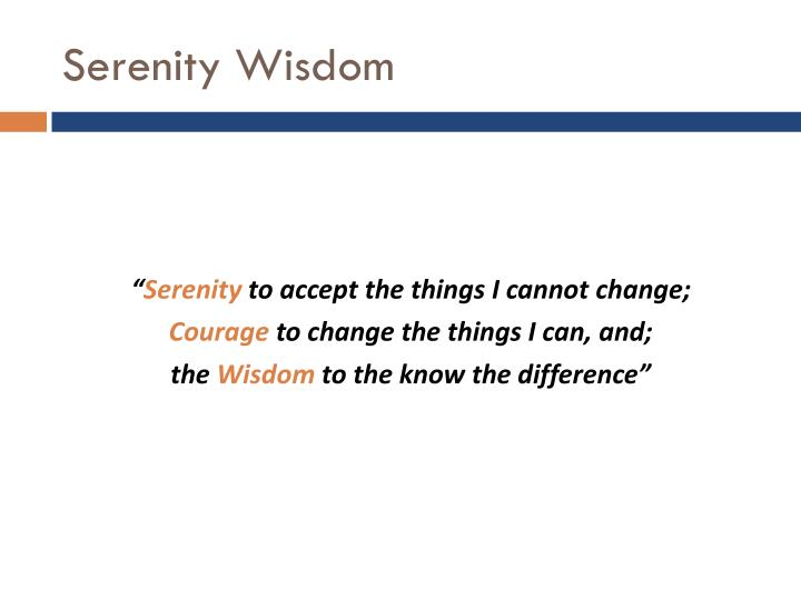 Serenity Wisdom