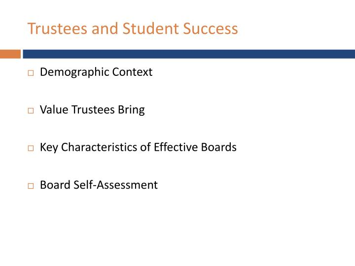 Trustees and Student Success