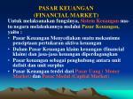 pasar keuangan financial market