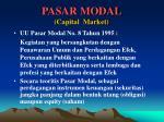 pasar modal capital market