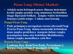 pasar uang money market