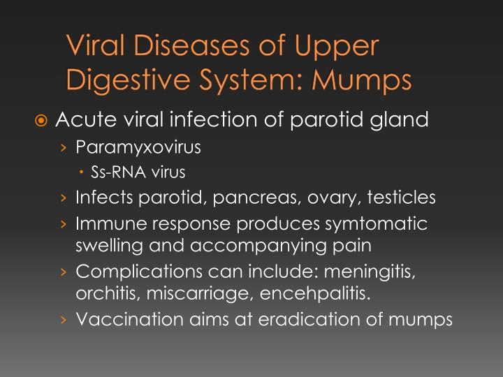 Viral Diseases of Upper Digestive System: