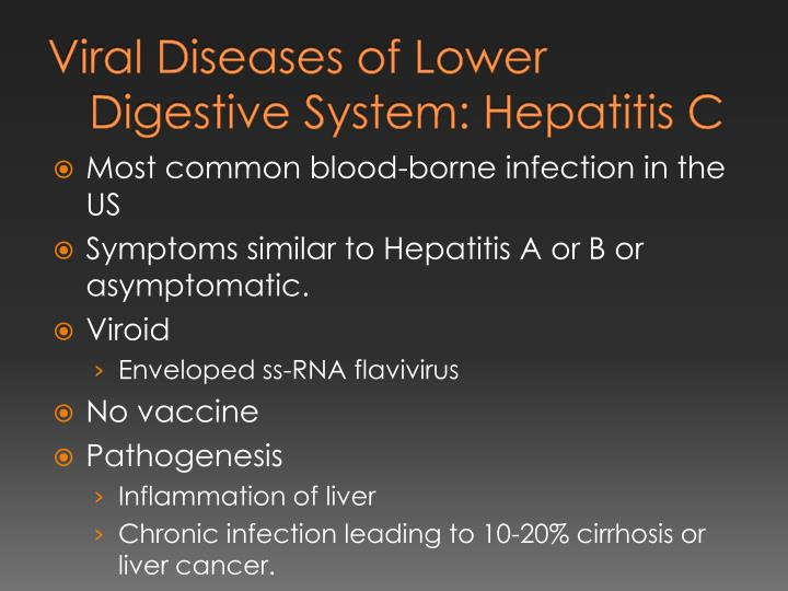Viral Diseases of Lower Digestive System: Hepatitis C
