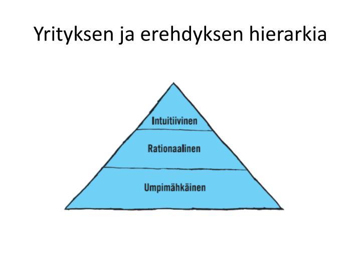 Yrityksen ja erehdyksen hierarkia