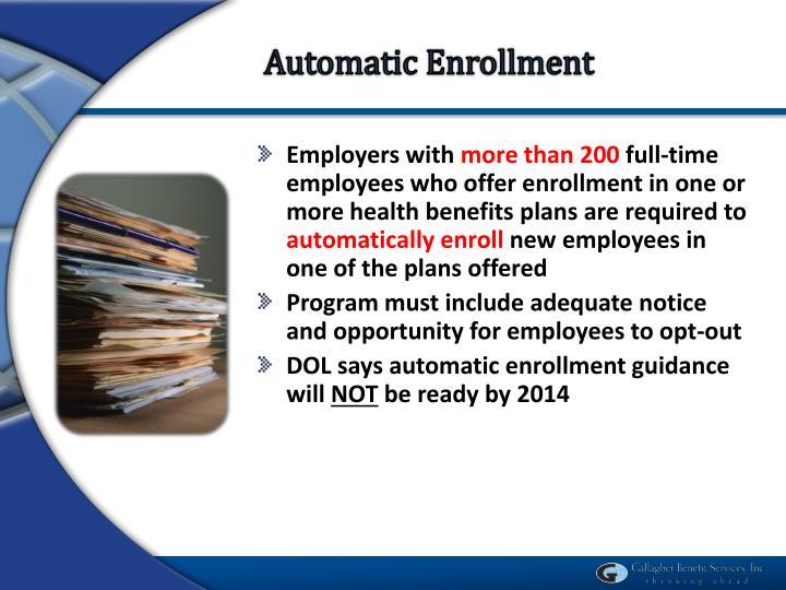Automatic Enrollment