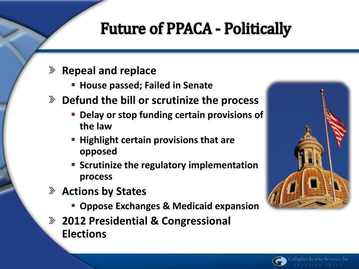 Future of PPACA - Politically