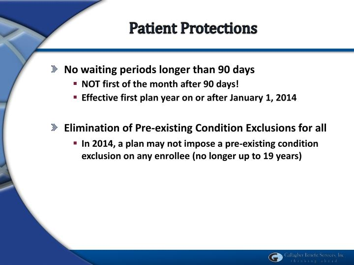 Patient Protections
