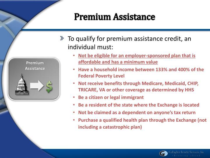 Premium Assistance
