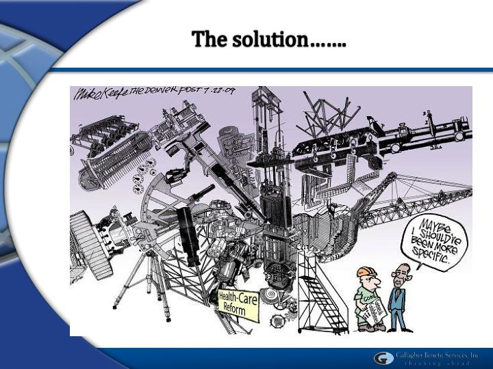 The solution…….