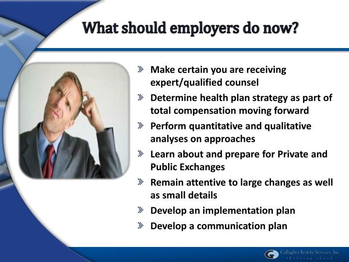 What should employers do now?