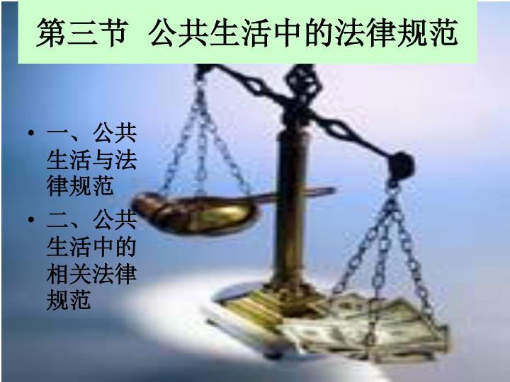 第三节  公共生活中的法律规范