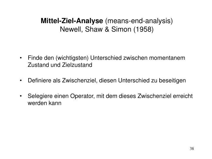Mittel-Ziel-Analyse