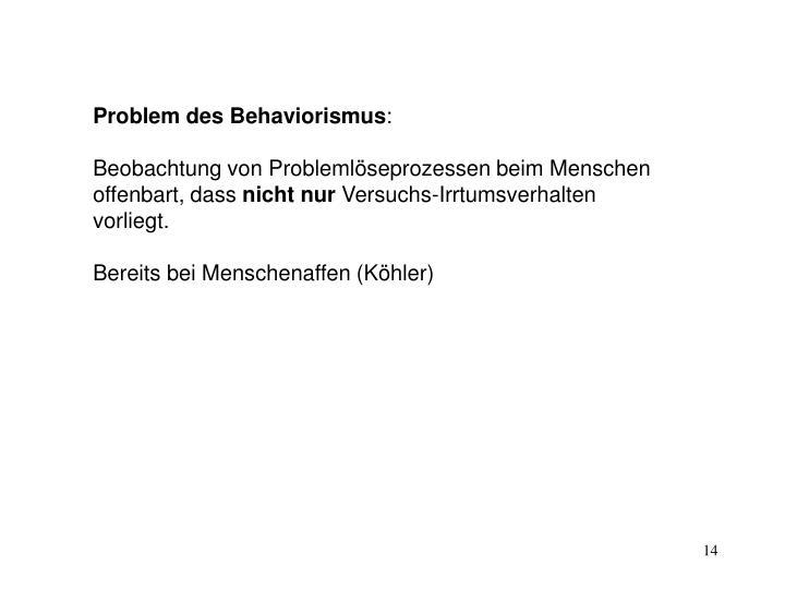 Problem des Behaviorismus