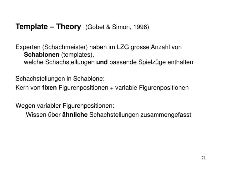 Template – Theory