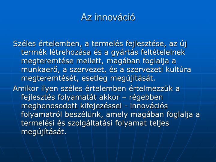 Az innováció