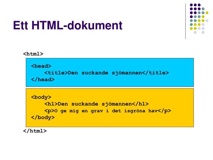 Ett HTML-dokument