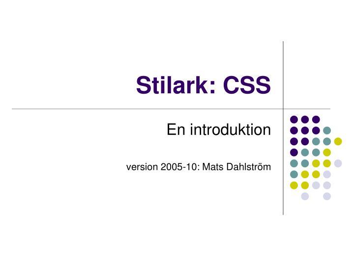Stilark: CSS