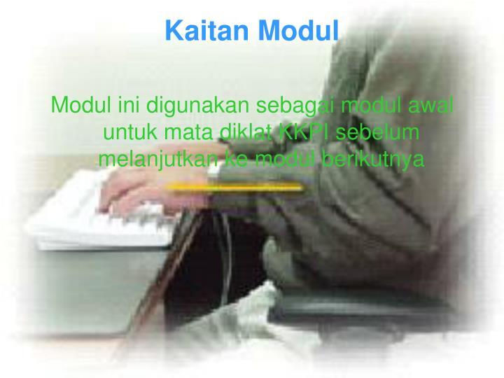 Kaitan modul