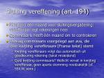 sluiting vereffening art 194