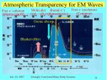 atmospheric transparency for em waves