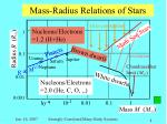mass radius relations of stars