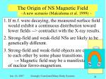 the origin of ns magnetic field1