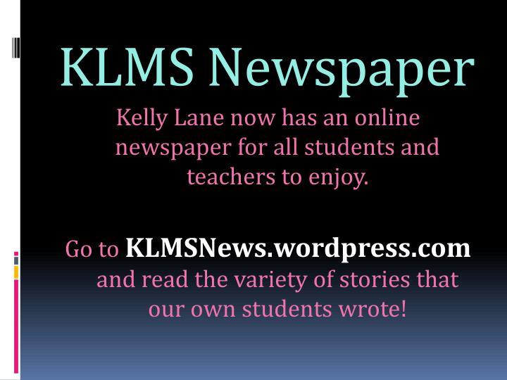 KLMS Newspaper