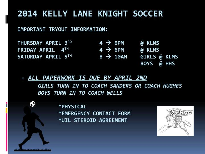 2014 Kelly Lane Knight Soccer