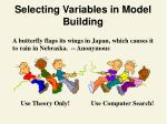 selecting variables in model building1
