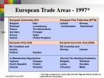 european trade areas 1997