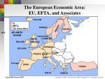 the european economic area eu efta and associates
