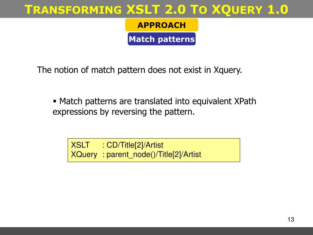Xslt Chapter 8 Advanced Pattern Matching Keller