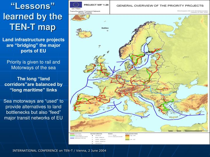 """""""Lessons"""" learned by the TEN-T map"""