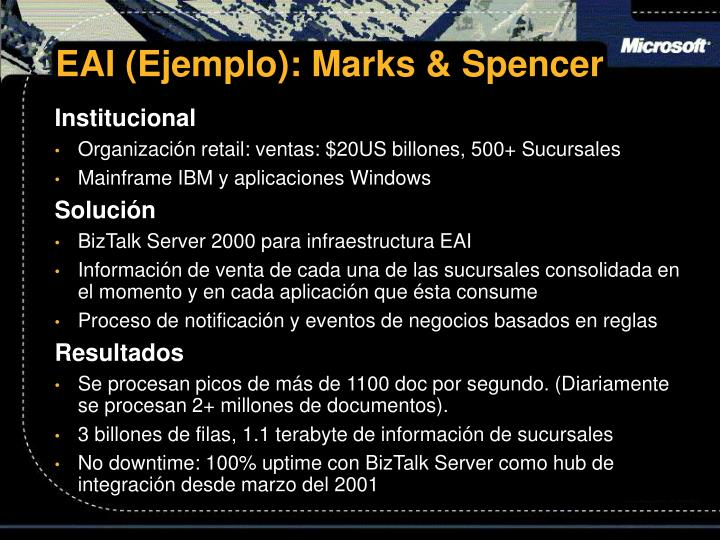 EAI (Ejemplo): Marks & Spencer